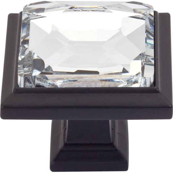 "Atlas Homewares 340 Legacy Crystal 1-5/16"" Square Cabinet Knob - n/a"