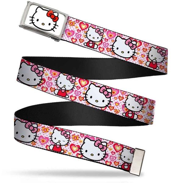Hello Kitty Face Fcg White Chrome Frame Hello Kitty Valentine's Day 1 Web Belt