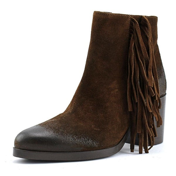 Vince Camuto Bianca Round Toe Suede Ankle Boot