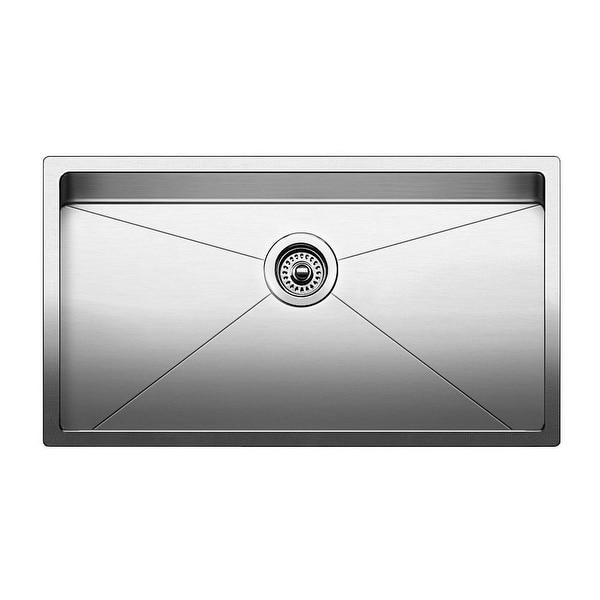 "Blanco 519548 Quatrus 30"" Single Bowl Undermount Stainless Steel Kitchen Sink - Satin"