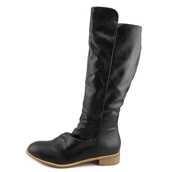 Diba Womens RUE Round Toe Knee High Fashion Boots, Black, Size 7.5
