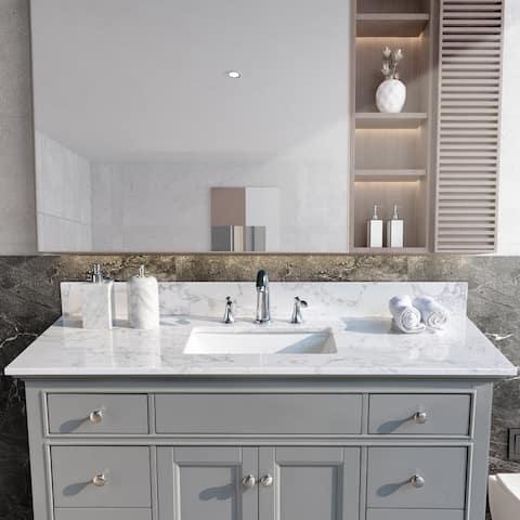 TiramisuBest 49''x22''bathroom vanity tops with sink and back splash