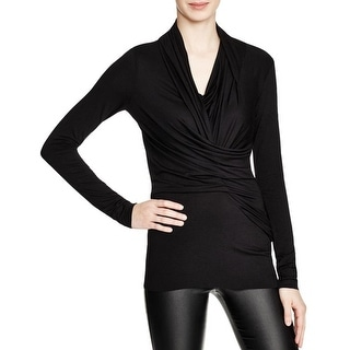 Bailey 44 Womens Twisted Sister Pullover Top Jersey Asymmetric