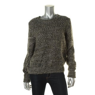 Leith Womens Marled Crew Neck Pullover Sweater - S