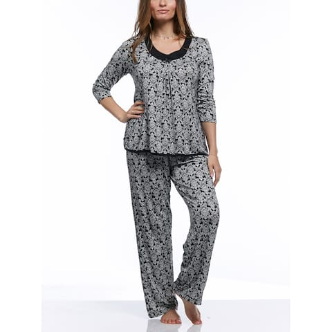 Rene Rofe Women's Simply Me 3/4 Sleeve Top/Pants Pajama Set