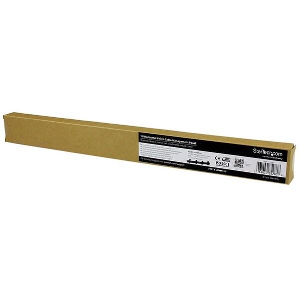 Startech 1U Velcro Horizontal Server Rack Cable Management Panel With 4 Loop Cable Organizer Cmvelc1u Black