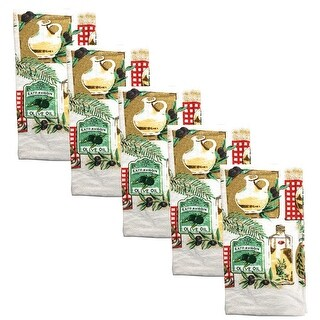 Kitchen Collection 5-Piece Olive Oil Towel Set, Multi, 15x25 Inches - N/A