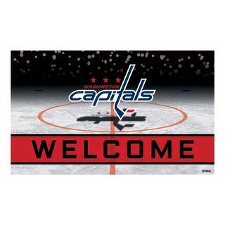 NHL Washington Capitals Heavy Duty Crumb Rubber Door Mat N A