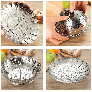 VECELO Stainless Steel Folding Vegetable Steamer Basket