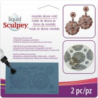 Liquid Sculpey Silicone Bakeable Mold W/Squeegee-Mandala