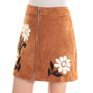 Womens Brown Floral Casual Skirt Size 10