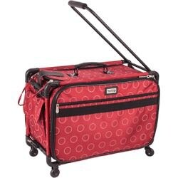 """23""""X15""""X12"""" Red W/Dotted Circles - Tutto Machine On Wheels Case"""
