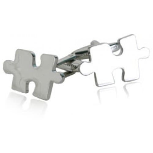 Jigsaw Puzzle Cufflinks Autism Awareness Month
