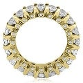 4.00 cttw. 14K Yellow Gold Round Diamond Eternity Ring - Thumbnail 1