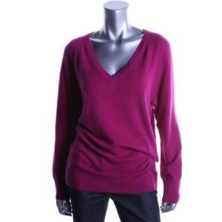 Equipment Womens V-Neck Sweater Cashmere Ribbed