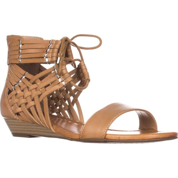 Jessica Simpson Lourra Wedge Lace Up Sandals, Buff