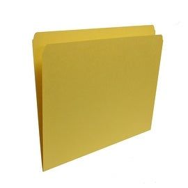 Smead 100 Letter Size Straight Cut Tab Folders in Yellow
