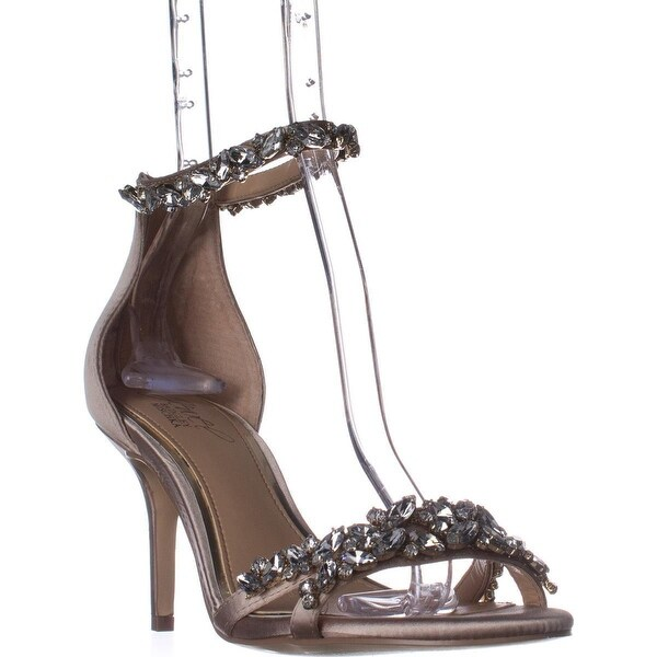 Jewel Badgley Mischka Caroline Dress Sandals, Chrome Satin