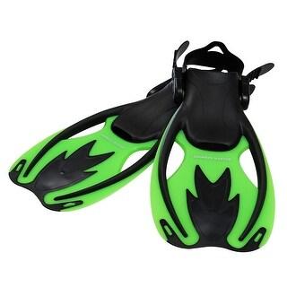 Snorkel Master Kids Green/Black Swimming Snorkeling Fins