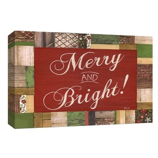 """PTM Images 9-148259  PTM Canvas Collection 8"""" x 10"""" - """"Merry and Bright"""" Giclee Sayings & Quotes Art Print on Canvas"""