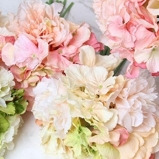 "FloralGoods Silk Hydrangea Peony Bouquet in Various Colors 12"" Tall"