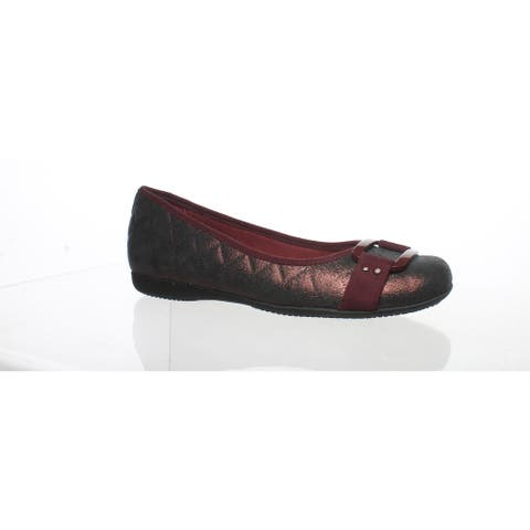 Trotters Womens Sizzle Burgundy Ballet Flats Size 6 (Narrow)