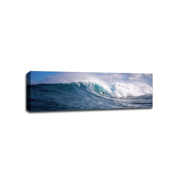 Surfer in Maui - Beach Photography - 36x12 Gallery Wrapped Canvas Wall Art