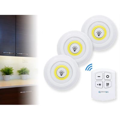 Technical Pro Remote LED Puck Lights 3-pack