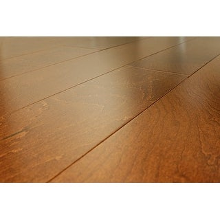 """SAMPLE Kanstar Engineered Hardwood - 17.5 sq. ft. Maple Collection Maple - Champagne / 5"""" / 1/2"""" / 9"""""""