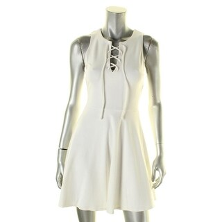 Aqua Womens Casual Dress Ponte Lace-Up