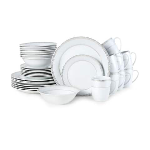 Fitz and Floyd Gold Serif 32 piece Dinnerware Set (Service for 8)