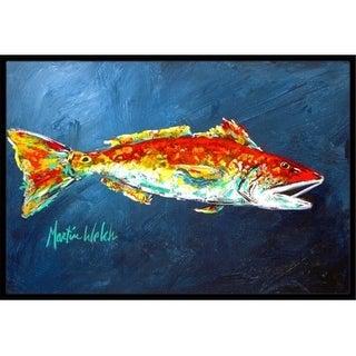Carolines Treasures MW1093JMAT 24 x 36 in. Fish - Red Fish Red for Jarett Indoor Or Outdoor Doormat