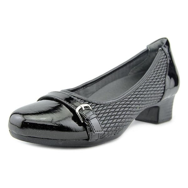 FootSmart Tracy W Round Toe Synthetic Heels