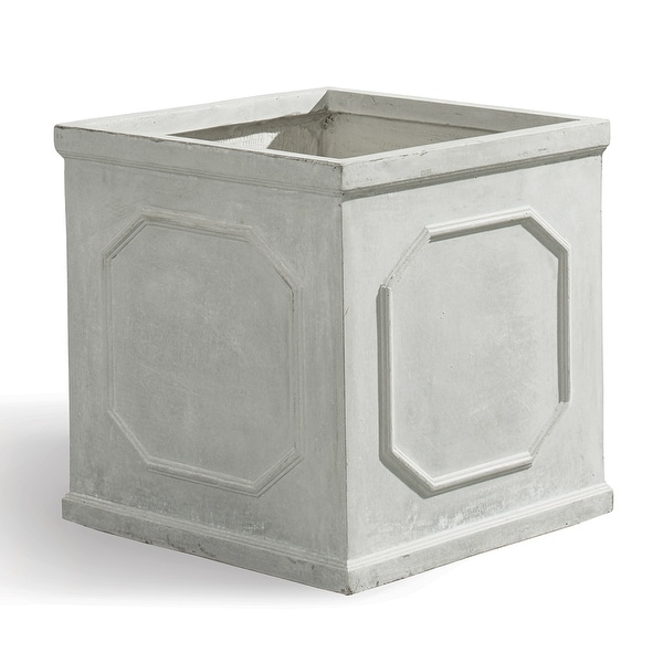 """Light Sand Synthetic Clay Indoor Outdoor Box 25.5"""" - N/A"""