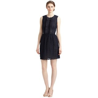 Red Valentino Organza Ruffle Front Scallop Trim Cocktail Dress - 10