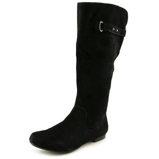 Style & Co Mabbel Women Round Toe Suede Black Mid Calf Boot