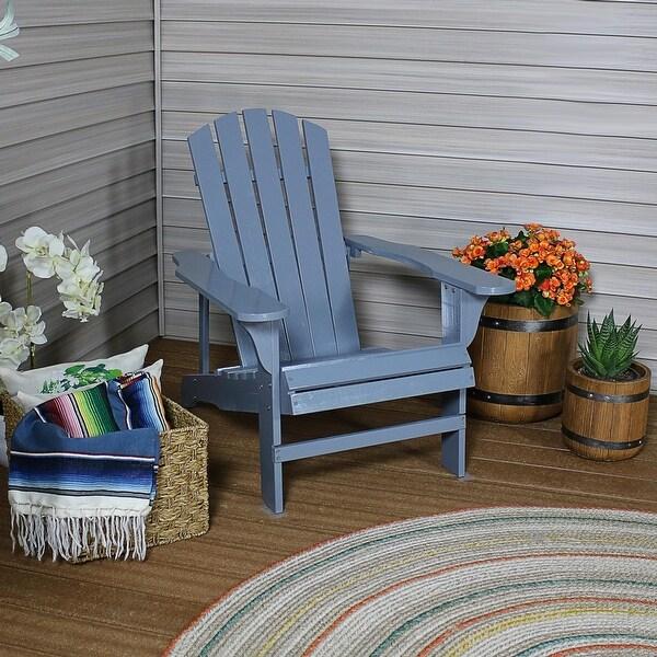 Sunnydaze Classic Wooden Adirondack Chair - Gray - 1
