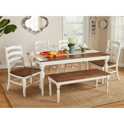 Simple Living Midland 6-Piece Dining Set with Bench