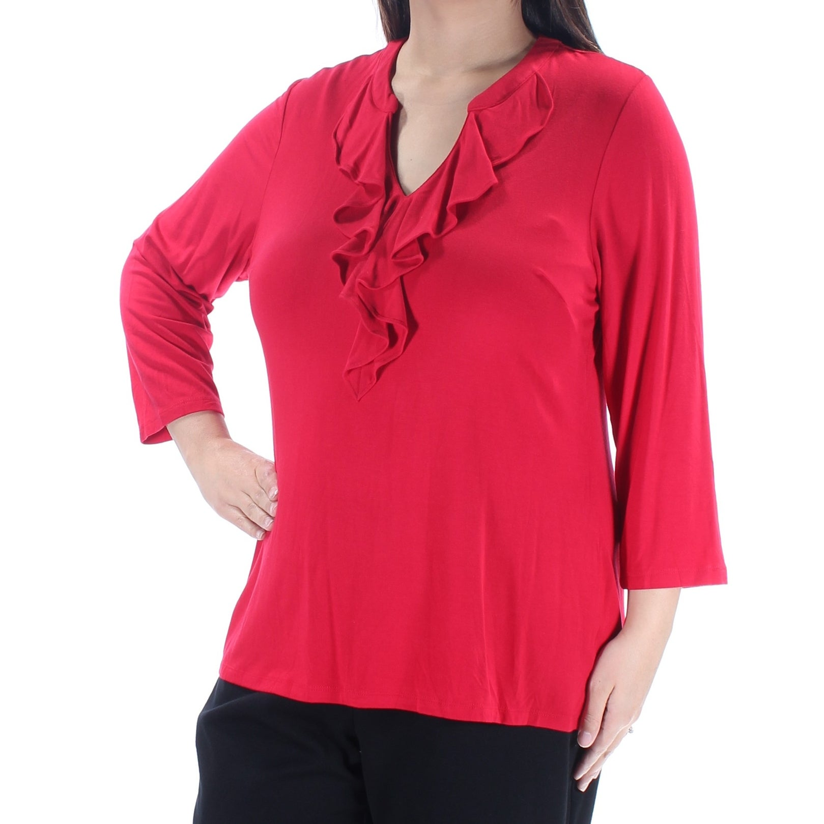 Charter Club Plus Size V-Neck Top