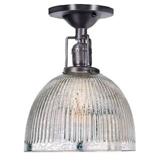 "JVI Designs 1202 S5-MP Union Square Single Light 7"" Wide Semi-Flush Ceiling Fixt"