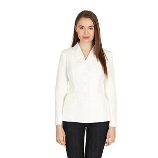 Dior Women's White Cotton Blend Three Button Blazer - 6