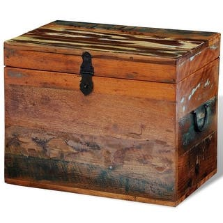 vidaxl reclaimed storage box solid wood brown - Storage Chest Trunk