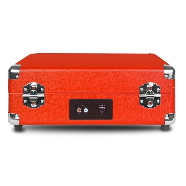 Victrola Vintage 3-Speed Bluetooth Suitcase Turntable with Speakers Red New