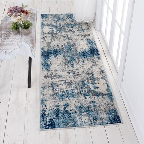 Alise Rugs Gematria Contemporary Abstract Area Rug