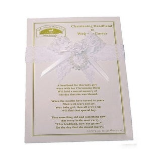 Little Things Mean A Lot White Lace Pearls Headband Wedding Garter