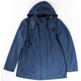 Lauren Ralph Lauren NEW Blue Mens Size 42R Hooded Rainwear Coat