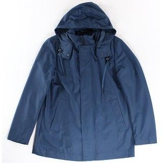 Lauren Ralph Lauren NEW Blue Mens Size 44R Hooded Rainwear Coat