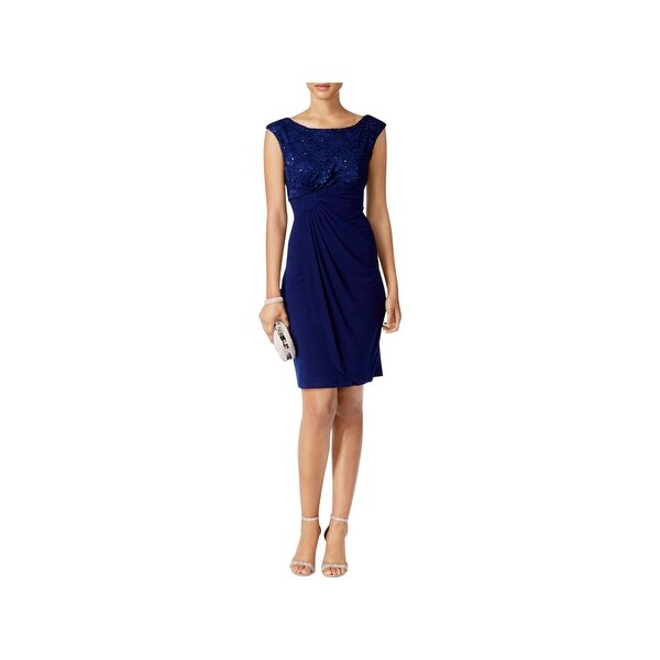 Connected Apparel Womens Party Dress Lace Cocktail