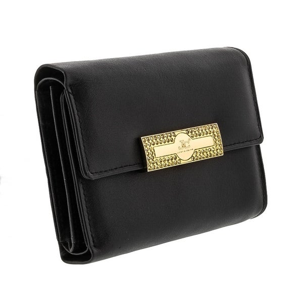 Jacky&Celine J23-001-001 Black Compact Multifunction Wallet - 4.75-4-1