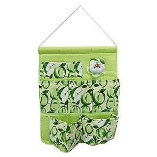 Unique Bargains Green Fruit Print Cloth Home Gadget Wall Hanging Bag